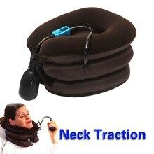 Air Cervical Neck Collar Soft Brace Relief Headache Back Shoulder Pain Traction Device HB88