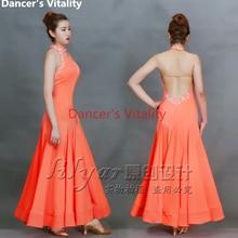 Elegant Ballroom Dance Costumes Back Open Sleeveless Ballroom Dance Dress  For Women Ballroom Dance Competition Dresses dea9ffa8420f