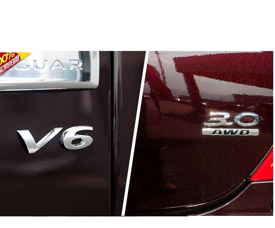 Chrome Letters X J L Car Trunk Rear Badge Emblem Decal Sticker for Jaguar XJL