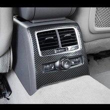 Auto Posteriore Aria Condizionata Copertura Decorativa Trim Interni In Fibra di Carbonio In Acciaio Inox Adesivi Per Audi A6 C5 C6 2005- 2011