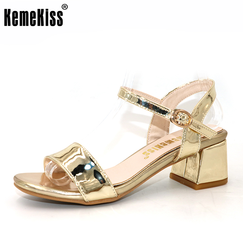 KemeKiss ankle wrap women sandals elegant women thick high heel sandals graceful shoes high heels sandals size 32-43 PC00057 rousmery 2017 ankle wrap rhinestone high heel sandals woman abnormal jeweled heels gladiator sandals women big size 43