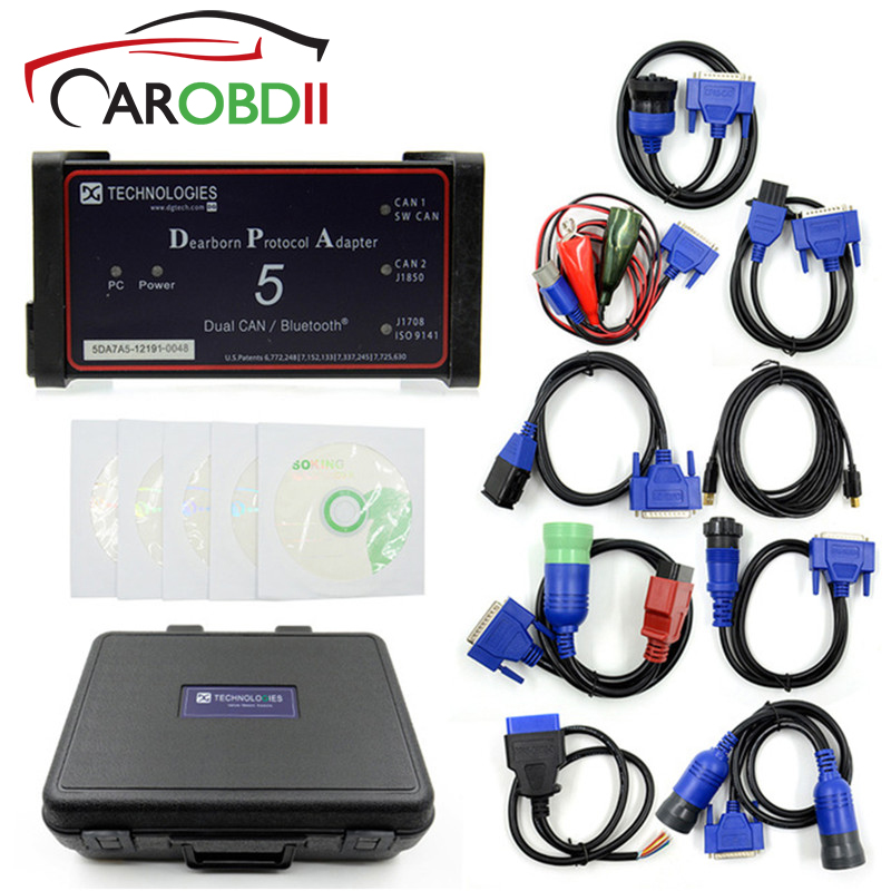 Promotion DPA5 Dearborn Protocol Adapter 5 Diesel Heavy Duty Truck Diagnostic Tool DPA 5 Same With Nexiq USB link 2 Scanner