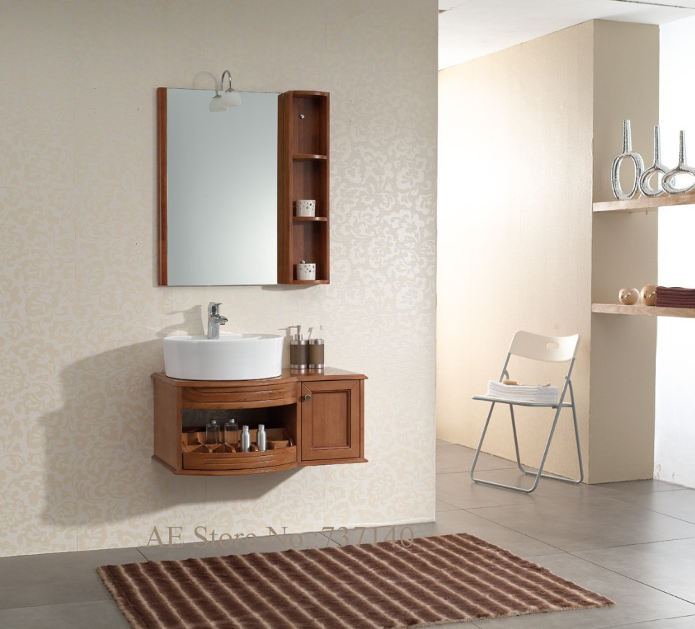Solid Wood Bathroom Cabinet Oak Furniture Wall Mounted Vanities Ing Agent Whole Price