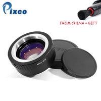 Pixco 스피드 부스터 초점 감속기 렌즈 어댑터 슈트 m42 렌즈 용 캐논 eos m dropshipping 용
