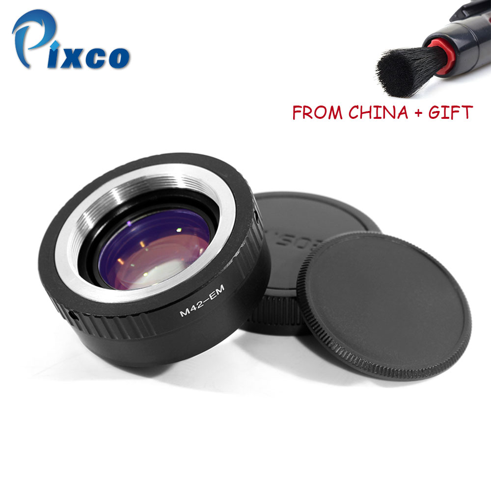 Pixco Vitesse Booster Réducteur de Focale Lentille Adaptateur Costume Pour M42 Lentille à Costume pour Canon EOS M DropShipping