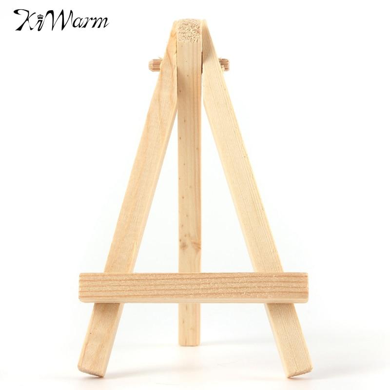 Kiwarm 5pcs Mini Wood Artist Easel Wedding Number Place Name