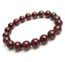 цена Genuine Natural Canada Auralite 23 Red Purple Round Beads Bracelet 9mm Crystal Women Men Stone Rarest Bracelet Jewelry AAAAA онлайн в 2017 году