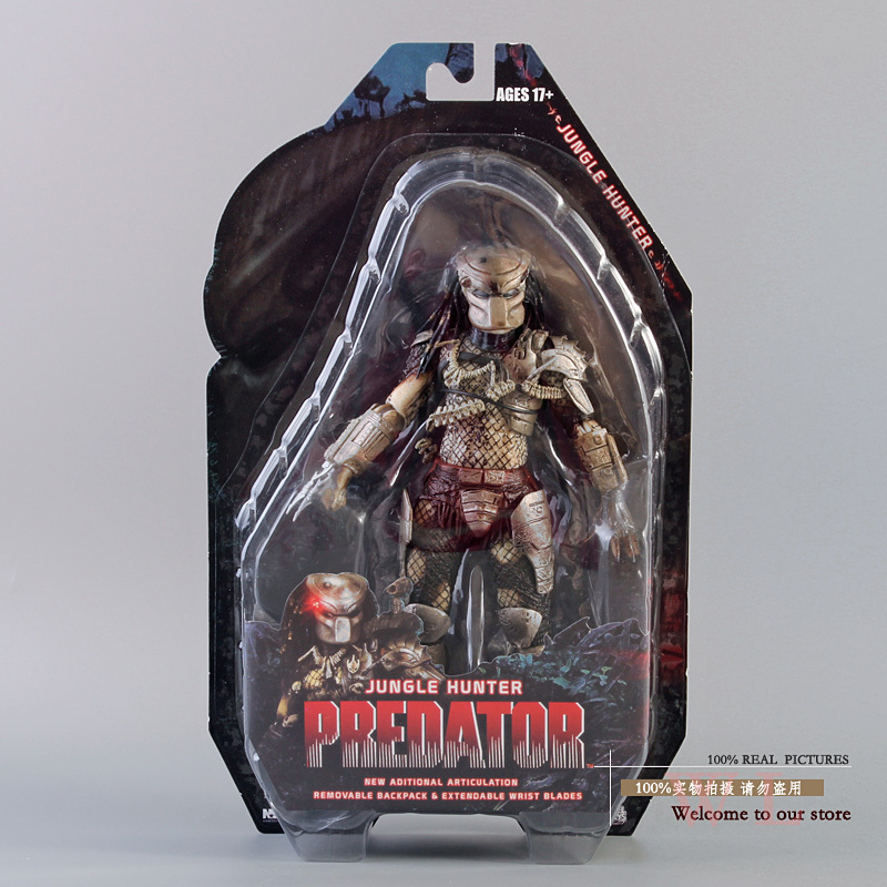 Free Shipping NECA Predator Series 8 Classic Predator 25th Anniversary Jungle Hunter PVC Action Figure Model Toy 820cm MVFG108 free shipping neca p1 7 soldier set classic predator 21cm alien hunter primevil avp