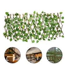 Выдвижной искусственный садовый забор 40 см деревянные лозы