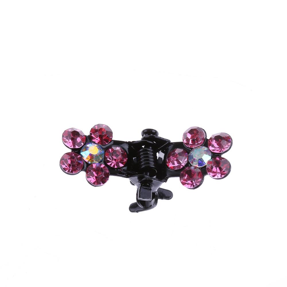 HTB10MhCQVXXXXbTXVXXq6xXFXXXa Bejeweled 12-Pieces Rhinestone Crystal Flower Mini Barrette Hair Claw For Women - 7 Colors