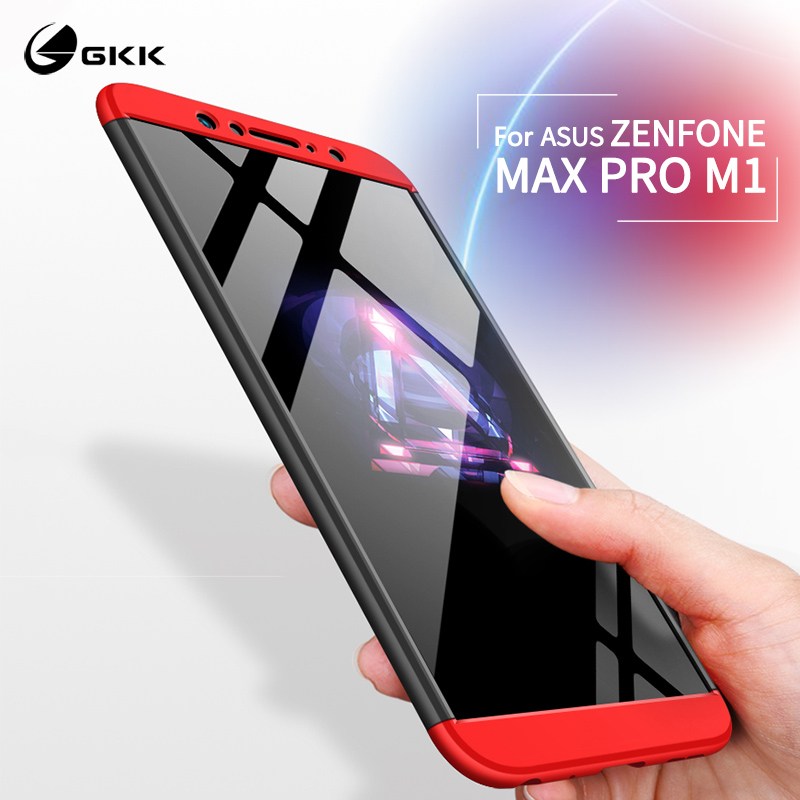 GKK Case for <font><b>Asus</b></font> <font><b>Zenfone</b></font> <font><b>Max</b></font> <font><b>Pro</b></font> M1 ZB602KL ZB631KL M2 Case Armor <font><b>360</b></font> Full Protection Shockproof Hard Hybrid 3 In <font><b>1</b></font> Matte Cover image