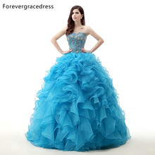 Forevergracedress Real Photo Ruffles Quinceanera Dress Sweetheart Organza Long With Lace Up Formal Party Dress Plus Size