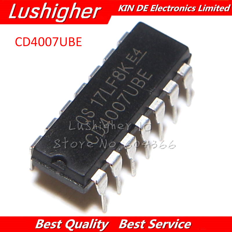 10PCS CD4007UBE DIP CD4007 DIP14 CD4007BE New Original