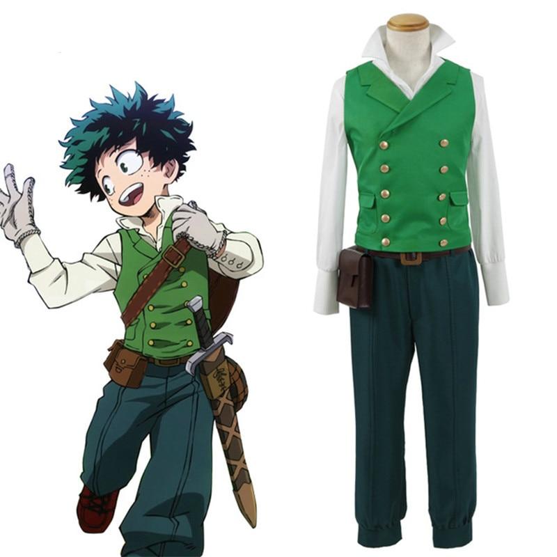 Hot Anime My Hero Academia Cosplay Izuku Midoriya Costumes Deku Cosplay for Adults Halloween
