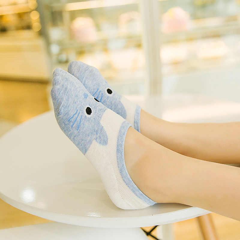 Милые мягкие хлопковые чулочно-носочные изделия для беременных, забавные носки для животных, короткие носки с рисунками для беременных