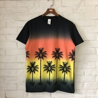 2018 neue Design Sommer Marke Top T 3D Kokospalme Gedruckt frauen Männer T-Shirts Street Style Kurzarm Hip Hop T shirts