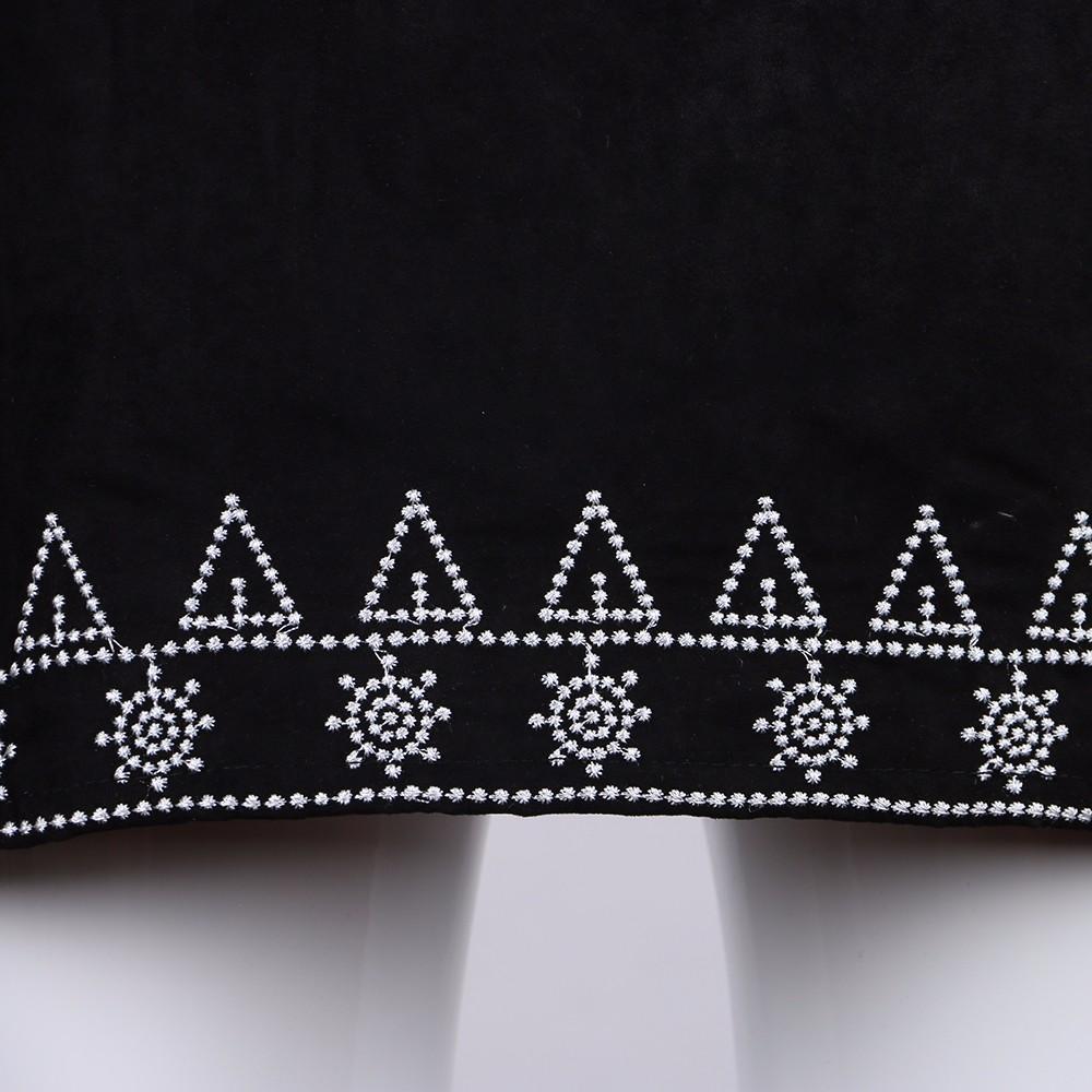 HTB10MiUNFXXXXa0apXXq6xXFXXX8 - FREE SHIPPING  Embroidery Suede A-line Skirt Black Brown Mini Skirts JKP350