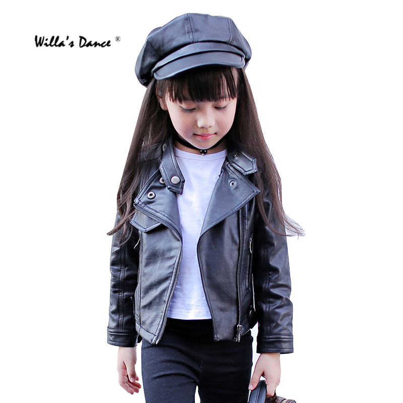 High Quality Girls Leather Jackets for Kids 2017 Autumn ...