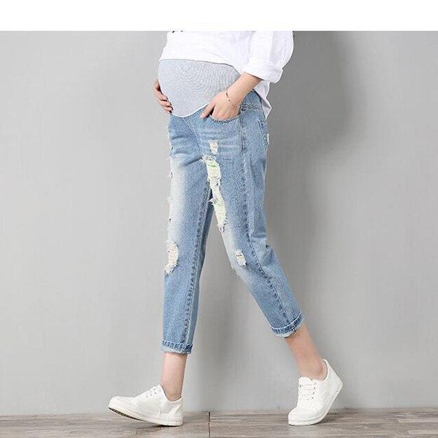 537be40f768f Pantaloni Jeans Di Maternità Per Le Donne Incinte Vestiti Pantaloni Cura  Pancia Prop Legging Gravidanza Abbigliamento