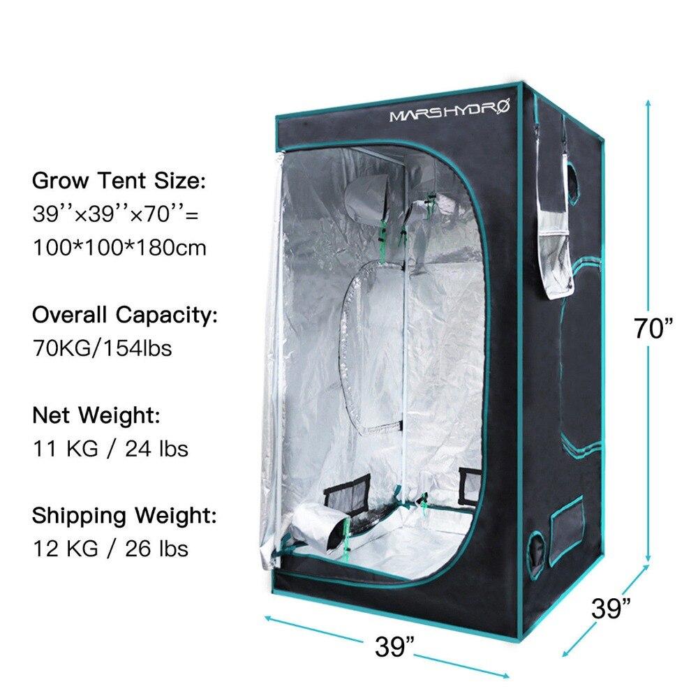1680D Marshydro Intérieur tente de culture hydroponique 100*100*180 cm, kit de culture, Complètement led Système de Culture Intérieure - 4