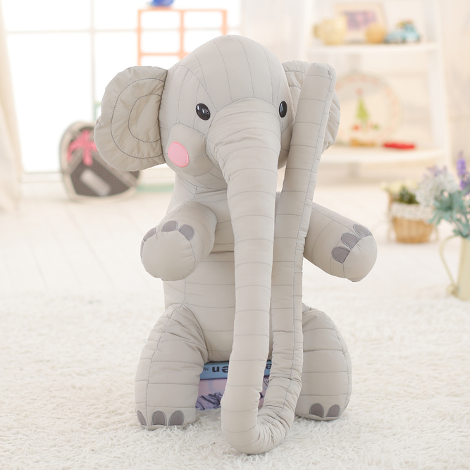 80cm Kawaii Plush Toys Elephant Doll Stuffed Animal Toys Pillow Kids Toys for Children's Gift plush toya elephant plush lion stuffed and soft animal toys