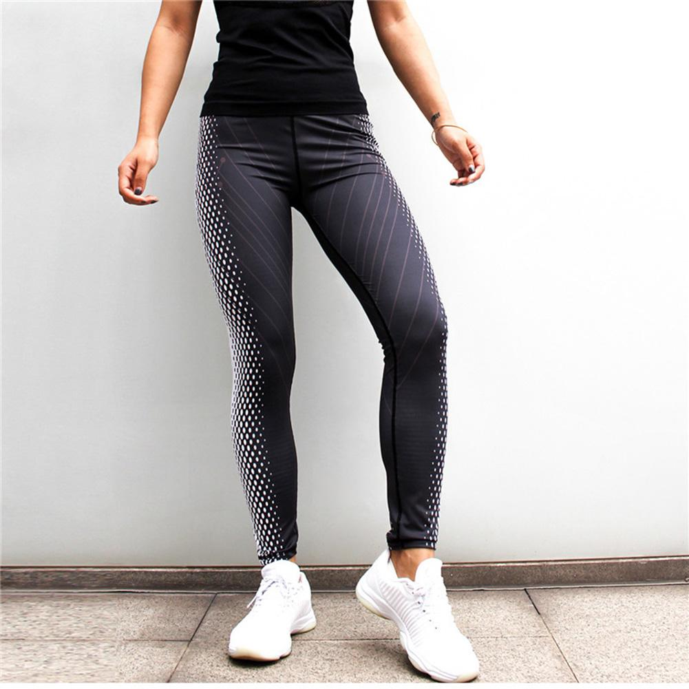 Black White Digital Printing Sports Yoga Pants Leggings font b Fitness b font Pants