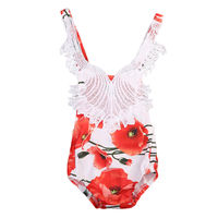 Newborn Baby Lace Bodysuit Kid Girls Jumpsuit Playsuit Sunsuit Outfits Children Infant Toddler Girl Flower Casual Lovely