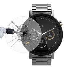 Link Traum Premium-ausgeglichenes Glas-schirm-schutz Ultra Slim 9 H Klar Gehärtetem SmartWatch Abdeckung Film für Motorola Moto 360.