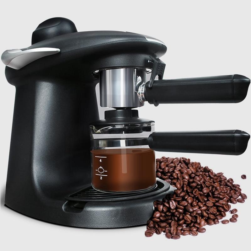 DMWD 250ML Italian Espresso Coffee Maker Automatic Electric Coffee Machine Cappuccino Milk Frothers Milk Foamer Steam 5BAR 220V