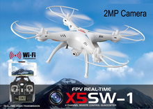 2.4G 4CH Drone Professional drone RC Quadcopter with HD Camera 2.0MP FPV helicopter WIFI syma x5SW Remote Control quad copter