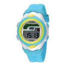 VILAM Nueva Moda Relojes de Cuarzo Para Niños Chicos Chica de Regalo de Navidad alarma lcd Deportivo Reloj Reloj Digital Colorido Niñas de Regalo Estudiantes 75