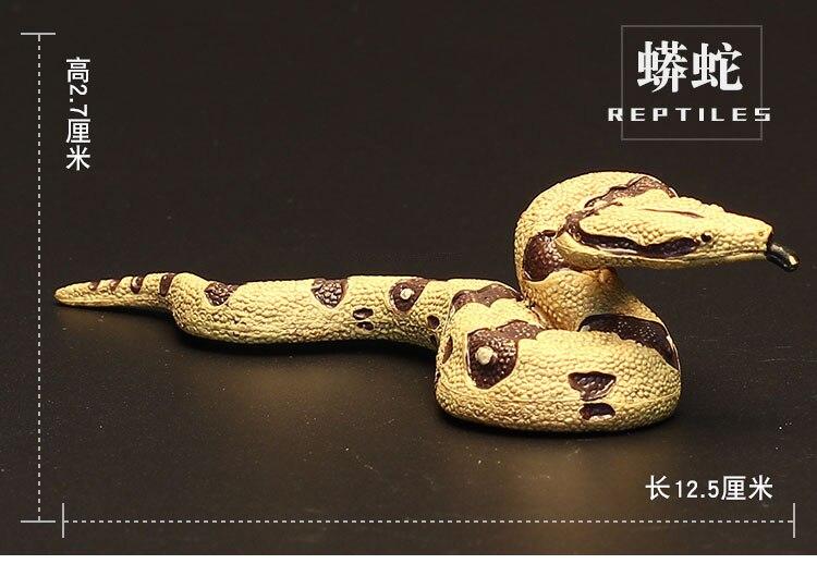 Figures Animal-Model Reptiles Educational-Toys Snake-Ball Kids Python Gift Wild Children