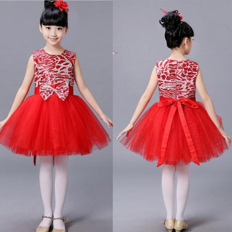 Детская современная одежда для балета; Одежда для танцев; Одежда для девочек в стиле хип-хоп; вечерние костюмы для бальных танцев; одежда для детей - Цвет: Красный