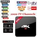 Nova S912 H96 Pro CAIXA de TV Android 6.0 HD Smart tv + 1 ano Árabe Francês REINO UNIDO portugal Itália europa servidor iptv 1000 Canais Canal +