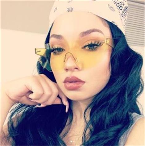 HTB10MjebWagSKJjy0Fcq6AZeVXa2 - Candy Color Sunglasses Flat Top Rimless Sunglasses
