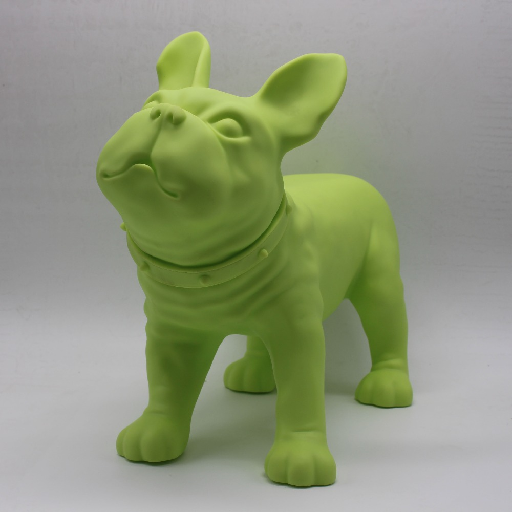 Green Plastic French Bulldog Dog Mannequin Sale For Pet Shop Display