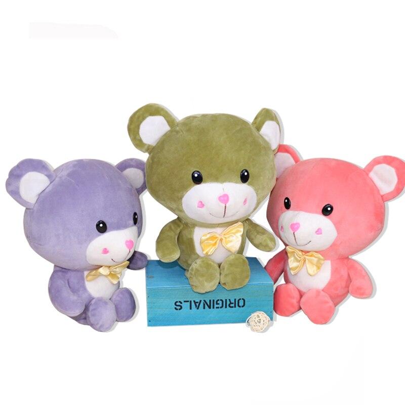 Baba lágy medvék Plüss játékok aranyos kitömött állatok Medve babák Bowtie-val Gyerekek játékok gyerekeknek Születésnapi karácsonyi ajándékok