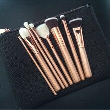 2017 Luxury RoseGold makeup brushes set  Professional brand Powder essential make up brushes set cosmetic brush