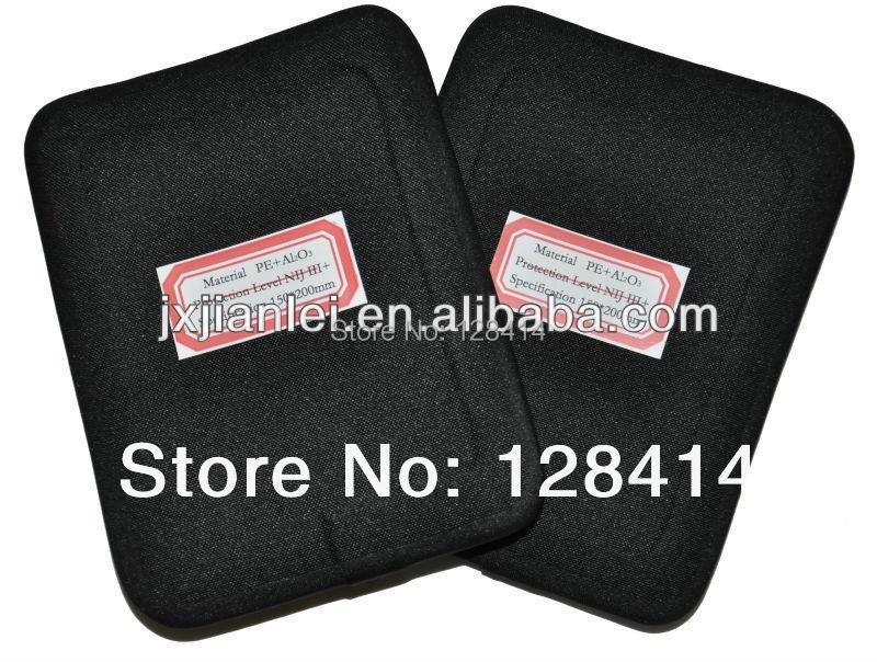 MILITECH Two Pieces 6'' x 8'' NIJ III+ Bulletproof Side Panels Lot NIJ level 3+ Stand Alone AK47 & SS109 & M80 Ballistic ESAPI