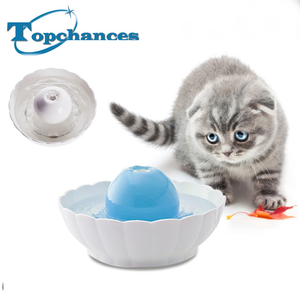 цена на High Quality Newest Automatic Electric 2.1L Pet Water Fountain Dog Cat Drinking Ceramic Bowl Ceramic Ball Fountain