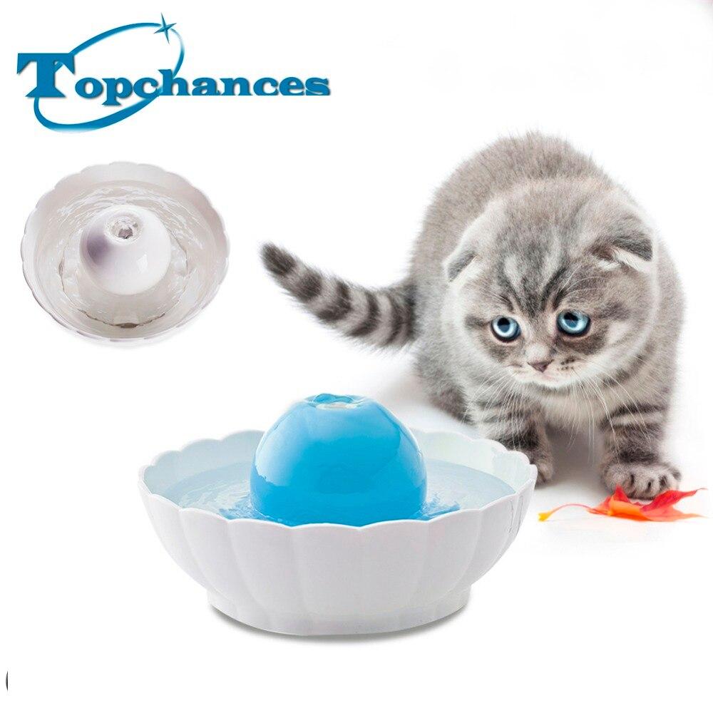 bilder für Hohe Qualität Neueste Automatische Elektrische 2.1L Pet Brunnen Hund Katze Trinken Keramikschale Ball Brunnen