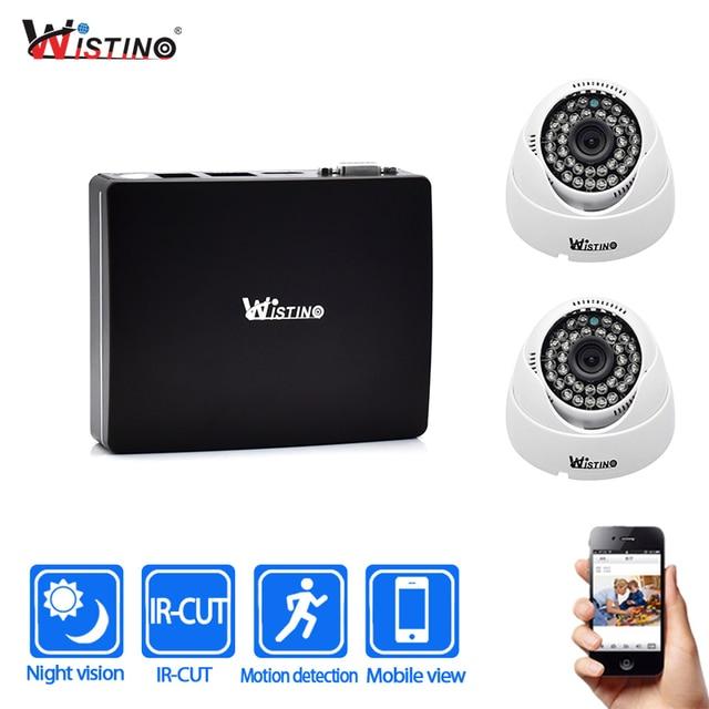 US $60 77 20% OFF|Wistino CCTV IP Camera XMeye Mini NVR Kits Indoor  Security Camera 1080P Home Surveillance System Kit Monitor Alarm Night  Vision-in