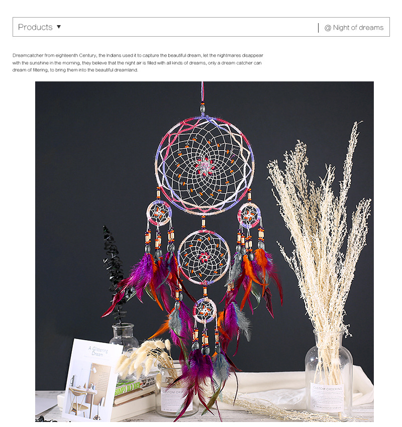dream catchers hangingdiy kids room decoration nordic decoration home girls roomnurserykids decor dreamcatcher children room (5)