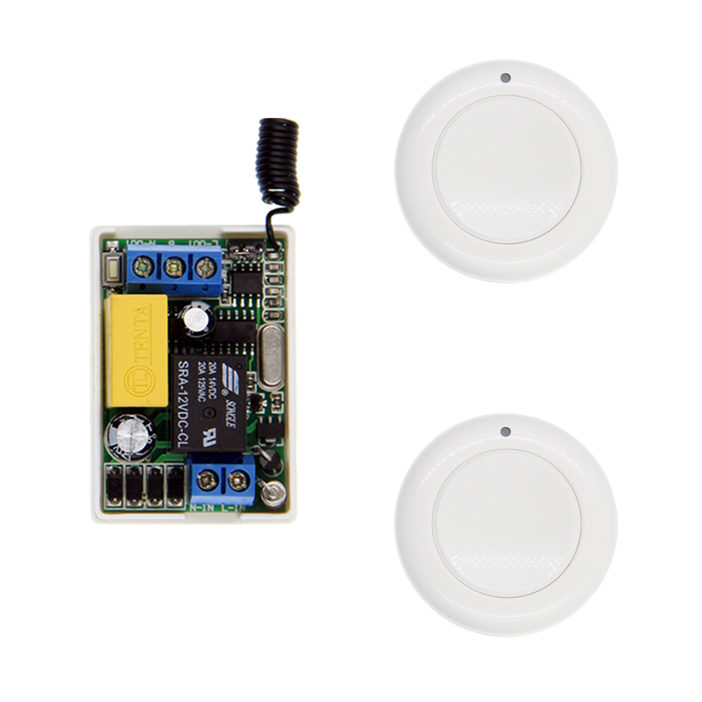 Mini 10A AC 220V 1CH 1 CH Wireless RF Remote Control Switch Transmitter Receiver System For LED Light,Self-lock,315 / 433.92 220v 1 ch 1ch rf wireless remote control switch system for led bulb light strips mini receiver 3ch 86 wall transmitter