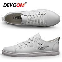 Fashion Leather Shoes DEVOOM Hot Sale Men Casual Shoes Summer Mens Trainers Luxury Men Shoes Chaussures Mens Loafers Men's Shoe