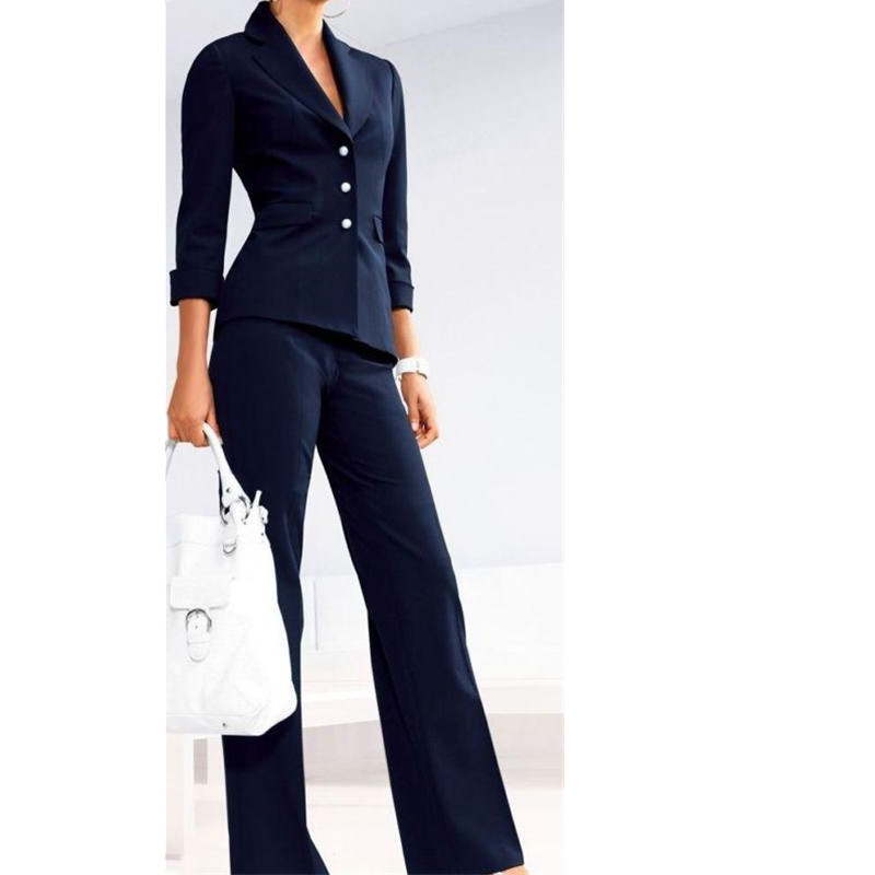 Women Professional Suits Custom Made Women's Formal Office Business Suits 2 Piece Jacket+Pants Tuxedos