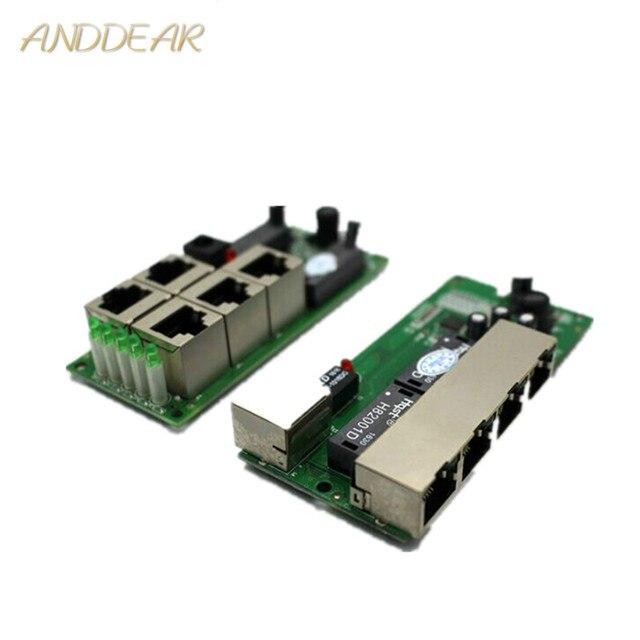 OEM di alta qualità mini prezzo a buon mercato 5 porte switch modulo società manufaturer PCB bordo 5 porte ethernet switch di rete modulo