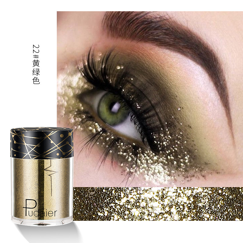 New Fashion High Quality 15 Color Diamond Flash Point Eye Shadow Plate Glitter Powder Highlights Sequin Eye Shadow Stage Makeup Cosmetics Beauty & Health Beauty Essentials