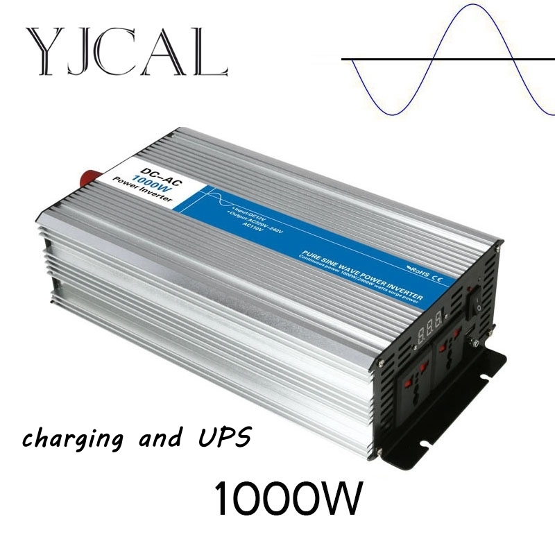 Pure Sine Wave Inverter 1000W Watt DC 12V To AC 220V Home Power Converter Frequency With Charger And UPS dc 12v to ac 110v 50hz 1000w modified sine wave inverter with charger and ups function 1000w inverter