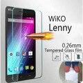 0.26mm de vidrio templado para wiko lenny/explay río/Explay Río Juego protector de pantalla protectora cubierta de la caja frontal + limpia kits